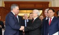Presidente de Duma Estatal de Rusia termina visita a Vietnam