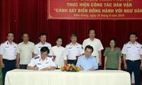 Consolidan cooperación entre Policía Marítima y compatriotas de región sureña
