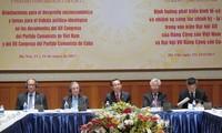 Celebran seminario teórico entre los Partidos Comunistas de Vietnam y de Cuba