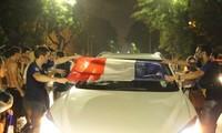Franceses en Hanoi celebra triunfo en la Copa Mundial del fútbol