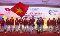 Ceremonia de despedida a los atletas vietnamitas participantes en los Juegos Asiáticos 2018