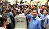 Camboya publica resultados provisionales de las elecciones parlamentarias