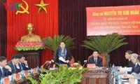 Presidenta del Parlamento de Vietnam trabaja en Bac Ninh