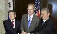 Estados Unidos, Corea del Sur y Japón promueven proceso de desnuclearización norcoreana