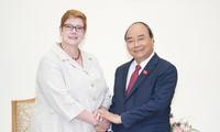 Primer ministro de Vietnam recibe a la canciller australiana