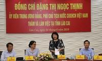 Vicepresidenta de Vietnam visita provincia de Lao Cai