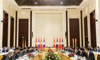 Viceprimer ministro Trinh Dinh Dung visita Laos