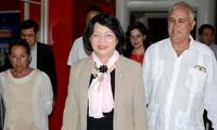En Cuba vicepresidenta de Vietnam