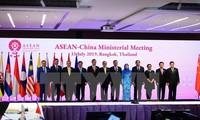 Jefes diplomáticos de Asean y China reunidos en Bangkok