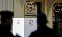 Jefes del G7 debaten en Francia temas internacionales candentes