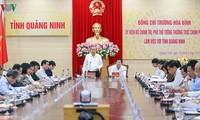 Viceprimer ministro Truong Hoa Binh trabaja con el gobierno de Quang Ninh