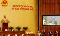 越南国会进行国会主席、国家选举委员会主席任免程序