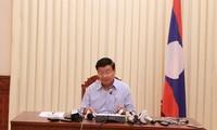 老挝政府总理通伦就水电站溃坝事故召开新闻发布会