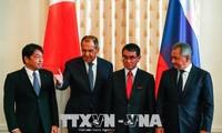 """日本和俄罗斯第三轮外长防长""""2+2""""磋商举行"""