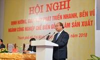 阮春福主持木器加工和林产业发展会议
