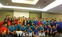 越南驻印度尼西亚大使馆勉励越南国奥队奋勇拼搏