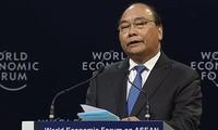"""2018 WEF ASEAN举行题为""""东盟在第四次工业革命中的各项优先""""的全体会议"""