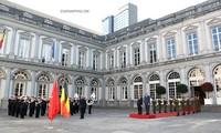 阮春福开始出席ASEM 12、访问欧盟并正式访问比利时行程