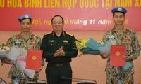 两名越南军官前往南苏丹执行联合国维和任务