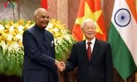 印度总统科温德圆满结束对越南的国事访问