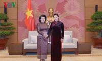 阮氏金银会见柬埔寨国会第二副主席宫桑达里