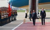 对阮春福总理一行的正式欢迎仪式在莫斯科举行