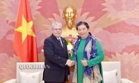 越南国会副主席丛氏放会见古巴国务委员会秘书奥梅罗•阿科斯塔•阿尔瓦雷斯