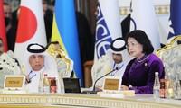 越南国家副主席邓氏玉盛出席CICA第五次峰会