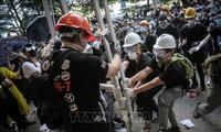 中国香港政府谴责极端暴力行为