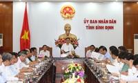 越南政府副总理王庭惠视察平定省