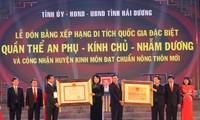 Deuxième vestige national spécial pour la province de Hai Duong
