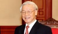 Message de félicitation de Nguyên Phu Trong au Parti du Peuple cambodgien