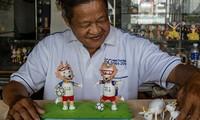 Nguyên Thanh Tâm et sa collection de mascottes à partir de coquilles d'œufs