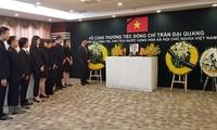 Cérémonie d'hommage au président Trân Dai Quang à Shanghai et en Pologne