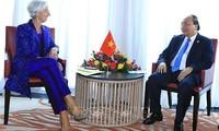 Nguyên Xuân Phuc à l'ouverture des assemblées annuelles du FMI et de la BM