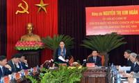 Nguyên Thi Kim Ngân en déplacement à Bac Ninh