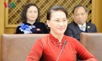 Nguyên Thi Kim Ngân reçue par le président sud-coréen
