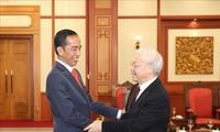 Message de félicitation de dirigeants vietnamiens au président indonésien