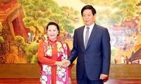 Entretien Nguyên Thi Kim Ngân - Li Zhanshu