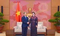 Nguyên Thi Kim Ngân reçoit le président de la Cour populaire suprême du Laos