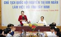 Nguyên Thi Kim Ngân travaille avec les autorités de Tây Ninh