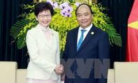 Nguyen Xuan Phuc rencontre la cheffe de l'exécutif de Hong Kong