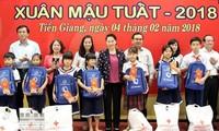 Têt: Nguyên Thi Kim Ngân présente ses vœux dans la province de Tiên Giang