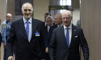 Syrian government delegation leaves Geneva