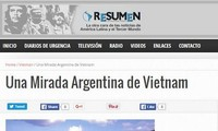 Argentina's newspaper praises Vietnam's beauty