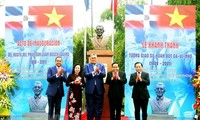 Bust of first Dominican President inaugurated in Hanoi
