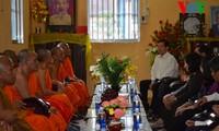Der ehemalige Staatspräsident Nguyen Minh Triet besucht die Provinz Soc Trang