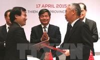 Ministerkonferenz über die wirtschaftliche Verbindung zwischen Vietnam und Singapur
