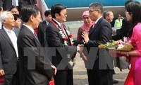 Staatspräsident Truong Tan Sang ist für Asien-Afrika-Gipfel in Jakatar eingetroffen