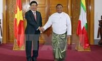 Vietnam und Myanmar verstärken die Kooperation in vielen Bereichen